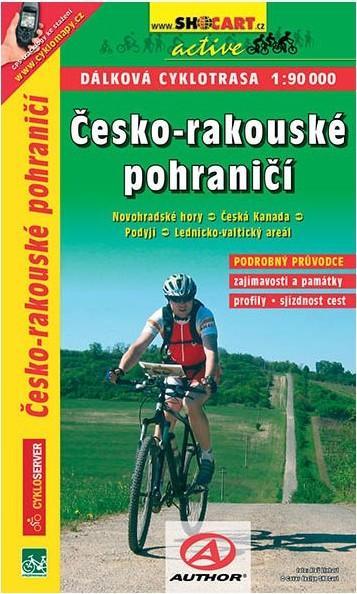 Česko-rakouské pohraničí 1:90T dálková cyklomapa