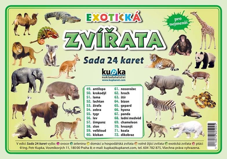 Darkovy Predmet Exoticka Zvirata Sada 24 Karet Knizniklub Cz