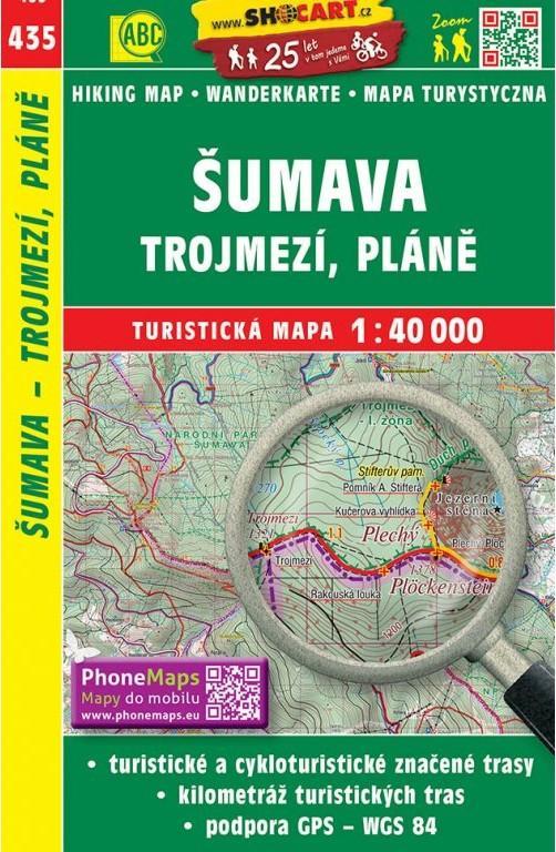 ŠUMAVA TROJMEZÍ PLÁNĚ TM 435