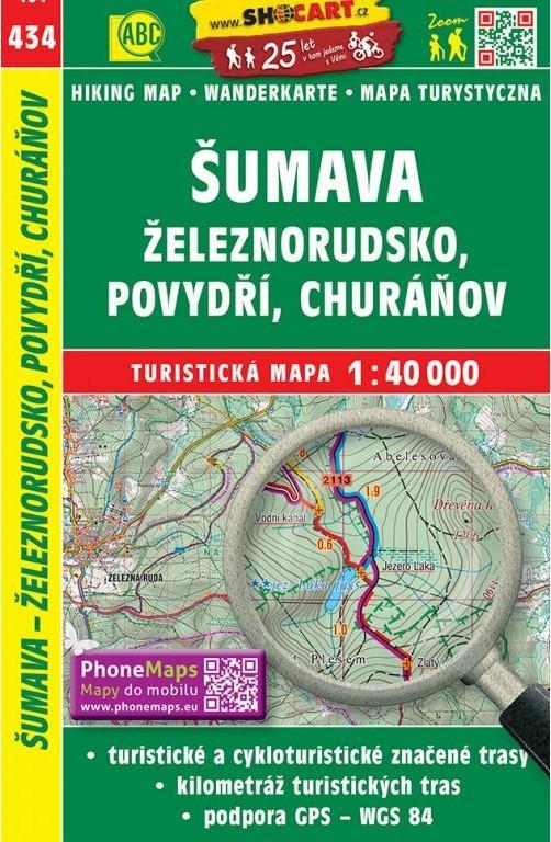 SHOCART 434 ŠUMAVA ŽELEZNORUDSKO,POVYDŘÍ,CHURÁŇOV 1:40000
