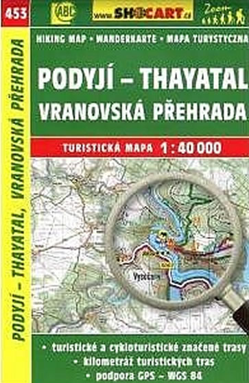 PODYJÍ - THAYATAL VRANOVSKÁ PŘEHRADA 1:40 000
