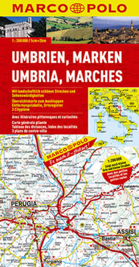 ITÁLIE - UMBRIE,MARCHES/MAPA