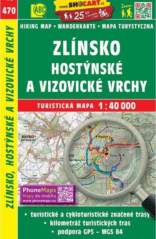 ZLÍNSKO,HOSTÝNSKÉ A VIZOVICKÉ VRCHY Č.470