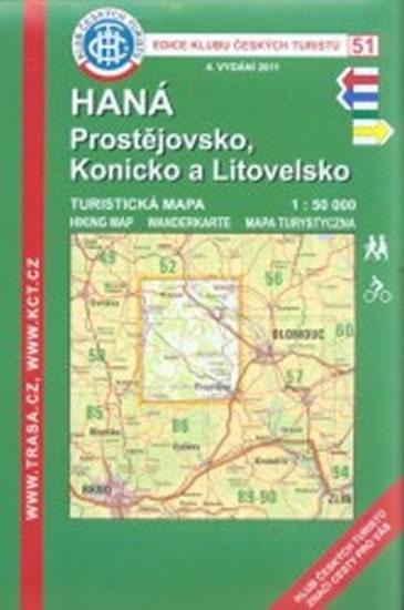 KČT 51 Haná, Prostějovsko 1:50T x