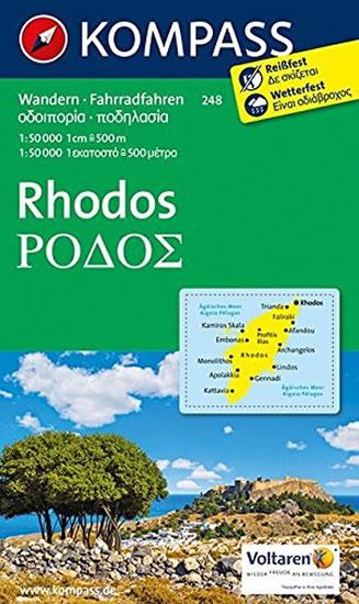 Rhodos - mapa 1:50T Kompass 248/ Řecko
