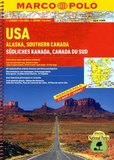 USA ALJAŠKA SOUTHERN CANADA SPIRÁLA