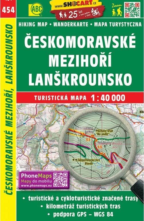 ČESKOMORAVSKÉ MEZIHOŘÍ LANŠKROUNSKO TM 454
