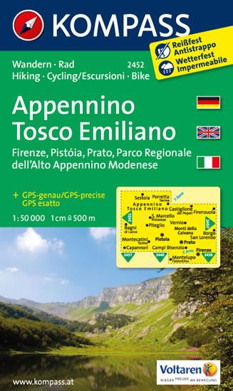 Appennino Tosco Emiliano - mapa 1:50T Kompass 2452/ Itálie - Toskánsko