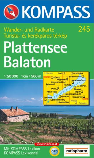 BALATON PLATTENSEE 1:50 000 /245/