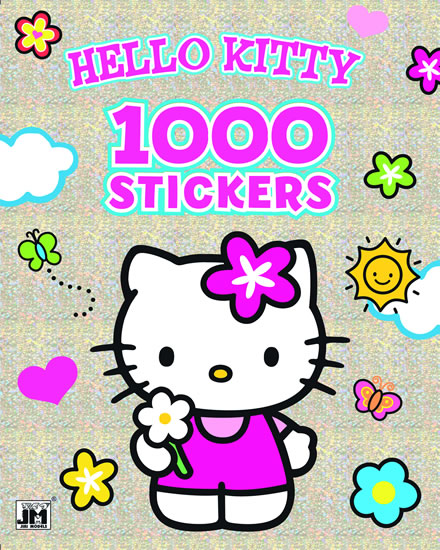 1000 STICKERS HELLO KITTY OMALOVÁNKA -