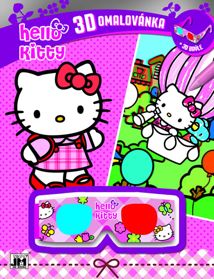 HELLO KITTY 3D OMALOVÁNKA -
