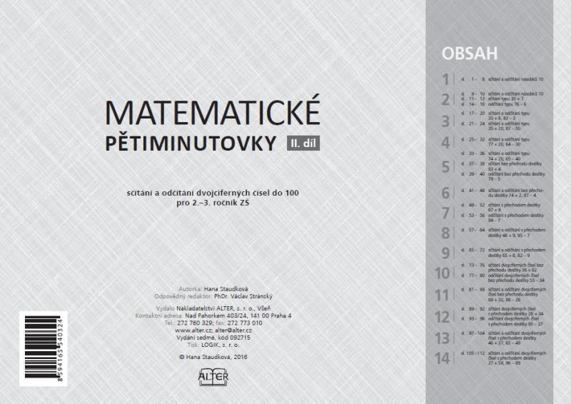 Kniha Matematicke Petiminutovky Ii Dil Knizniklub Cz