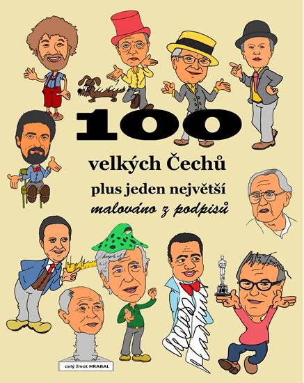 100 velkých Čechů plus jeden největší - malováno z podpisů - Merta František