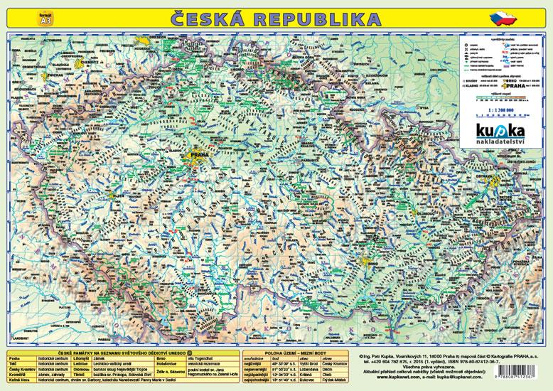 Kniha Ceska Republika Skolni Mapa Mapa A3 Lamino Kupka Petr
