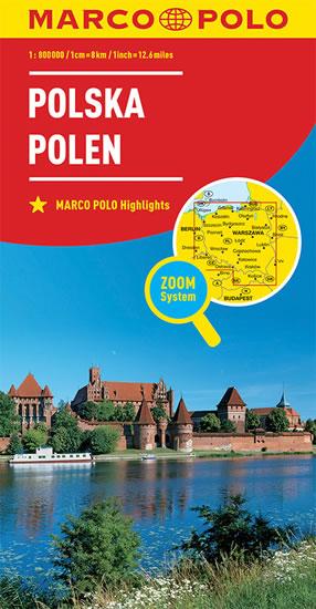 POLSKO 1:800 000
