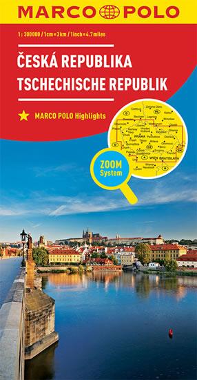 ČESKÁ REPUBLIKA 1:300T/MAPA(ZOOMSYS