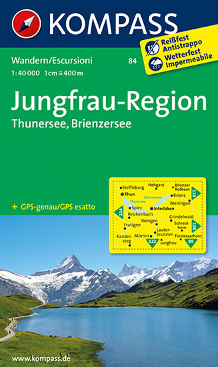 Jungfrau -  Region - mapa 1:50T Kompass 84