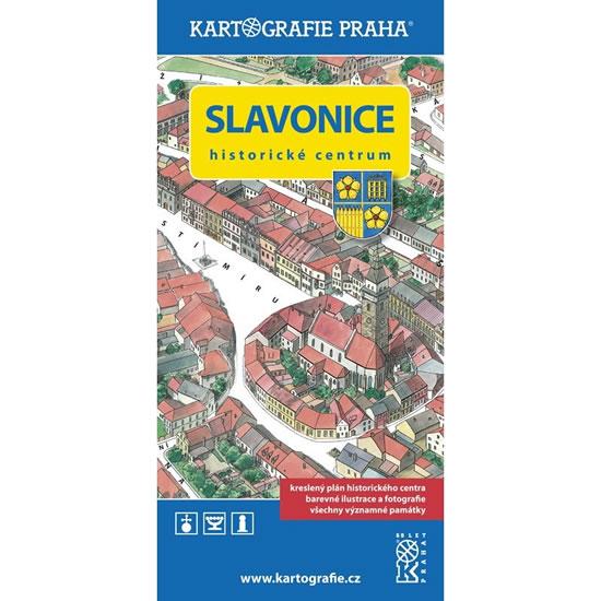 SLAVONICE - MAPA HISTORICKÉ CENTRUM