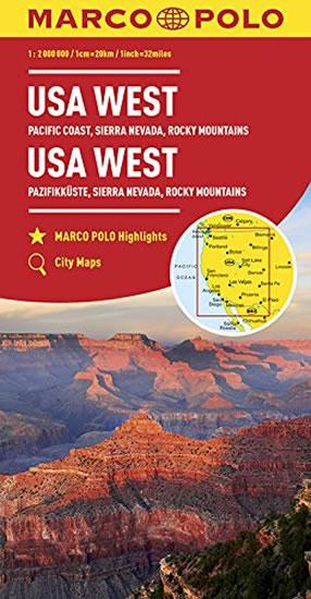 USA západ/mapa 1:2M MD