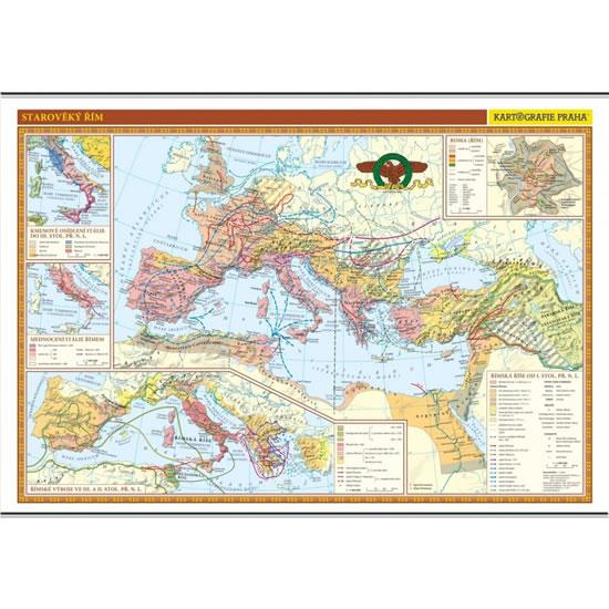 18 Staroveky Rim Skolni Nastenna Mapa 136 X 96 Cm Neuveden