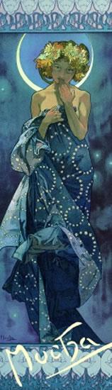 Alfons Mucha - záložka Luna