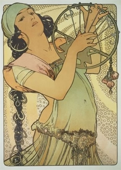 Mucha -  Salome - pohled
