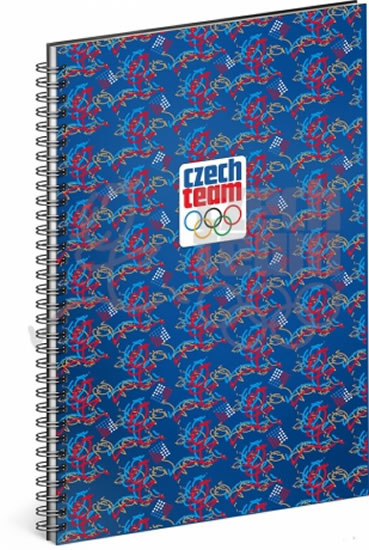 Blok - Český olympijský tým, linkovaný, spirálový, A4 - neuveden