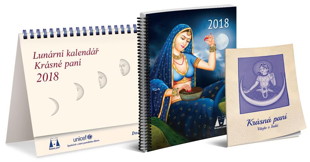 Lunární kalendář krásné paní 2018