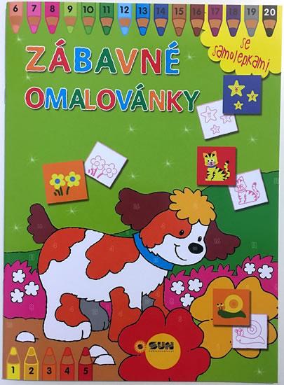 296-6 ZÁBAVNÉ OMALOVÁNKY SE SAMOLEPKAMI ZELENÉ -