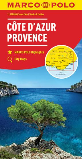 Francie - Azurové pobřeží, Provence 1:200 000 mapa MP