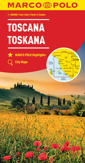 ITÁLIE TOSKANA MAPA