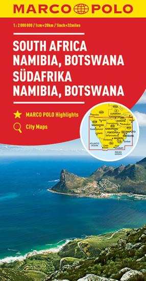 Afrika - jih ,Nambie, Botswana 1:2M