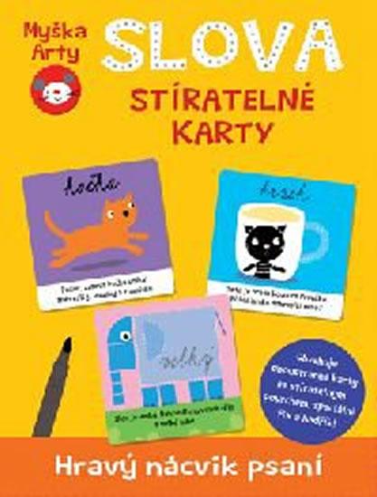 Myška Arty Slova - stíratelné karty