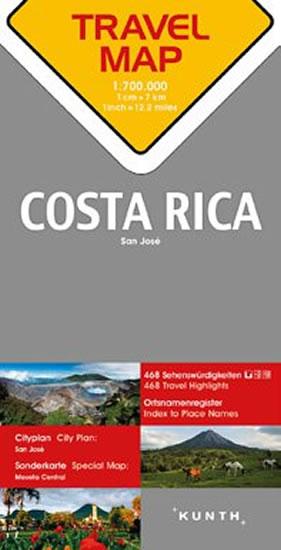Kostarika 1:800 T TravelMap KUNTH