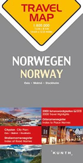 NORSKO  1:800T  TRAVELMAP KUNTH