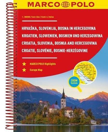 Slovinsko/Chorvatsko/ atlas spirála 1:300 000