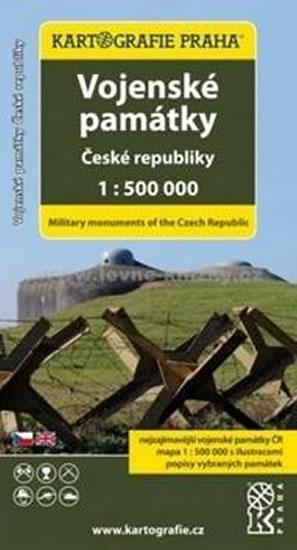 Vojenské památky České republiky 1:500 000 mapa