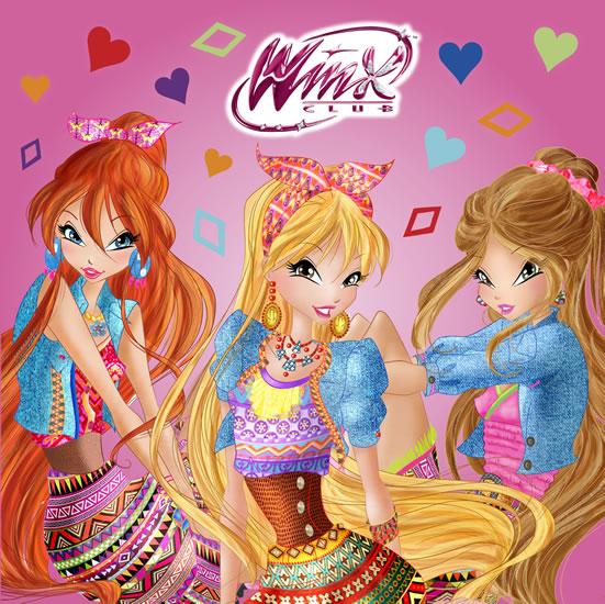 Winx Club fashion - čtvercové omalovánky
