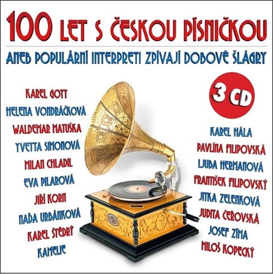 100 let s českou písničkou aneb populární interpreti zprívají dobové šlágry - 3 CD - Various