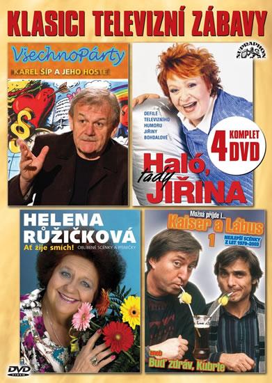 4 DVD Klasici televizní zábavy