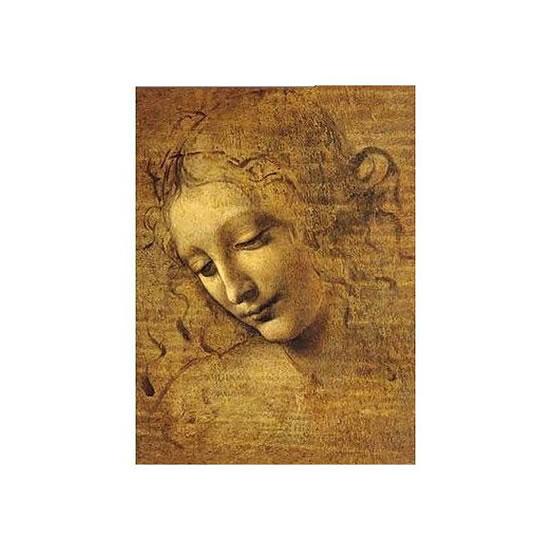 Puzzle/250 dílků Leonardo da Vinci: Tvář mladé dívky