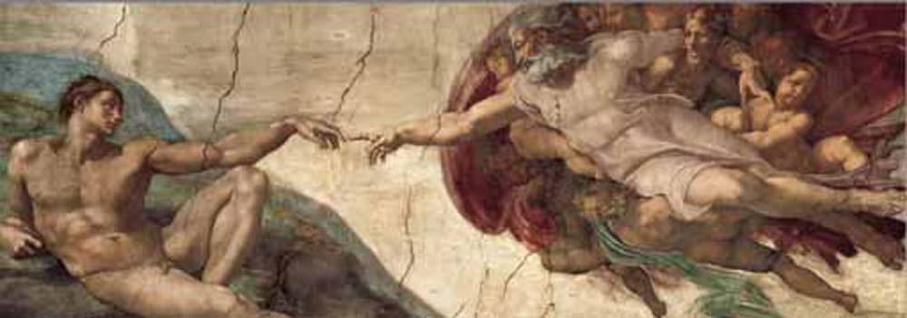 Puzzle/1000 dílků Michelangelo: Stvoření Adama