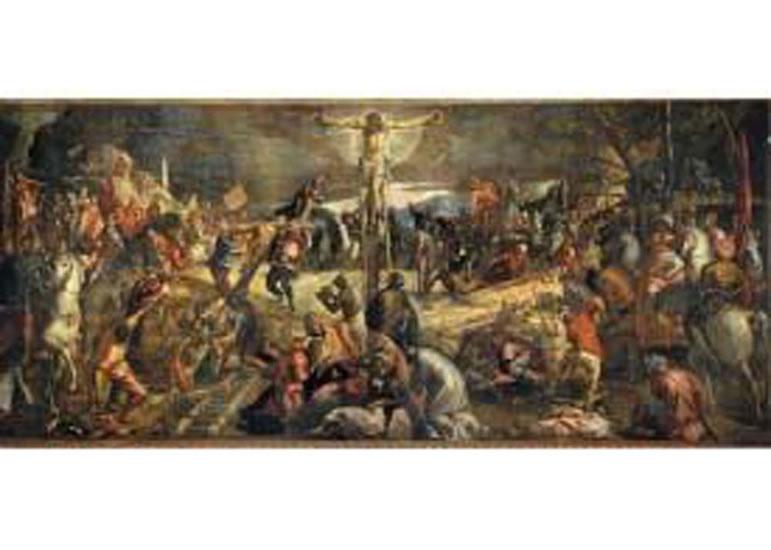 Puzzle/2000 dílků Tintoretto: Ukřižování Krista
