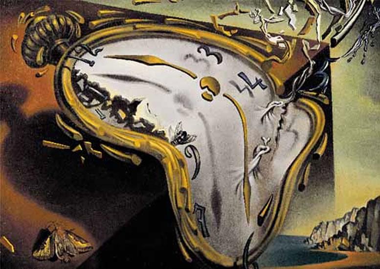Salvador Dalí: Rozteklé hodinky - Puzzle/1500 dílků