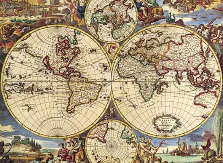 Anonimo: Mapa Světa - Puzzle/1000 dílků