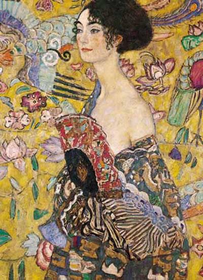 Klimt Gustav: Dáma s vějířem - Puzzle/1500 dílků
