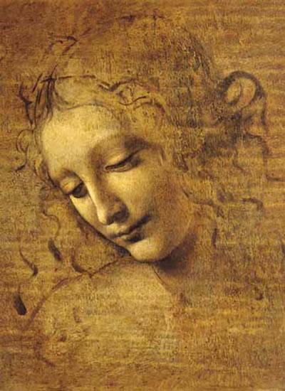 Leonardo da Vinci: Tvář mladé dívky - Puzzle/1500 dílků