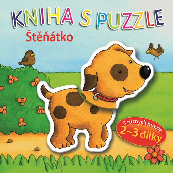 Štěňátko - Kniha s puzzle