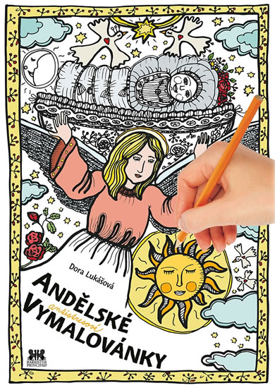 Andělské antistresové vymalovánky