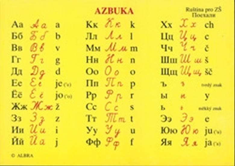 Azbuka-lamino kartička